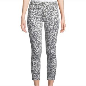 Current Elliott Stiletto Animal Print Crop Jeans